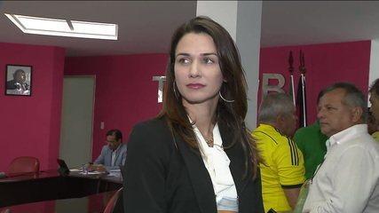 Michele Ramalho, presidente da Federação Paraibana de futebol: eleição sob suspeita
