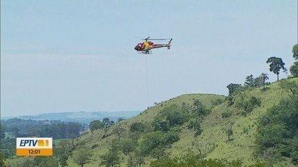 Bombeiros retomam buscas por último desaparecido em tromba d'água durante rapel