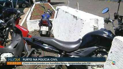 Motos são furtadas do deposito da Polícia Civil