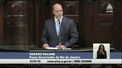 Wilson Witzel discursa na posse ao cargo de governador do RJ