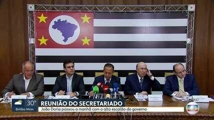 João Doria se reúne com secretariado no Palácio dos Bandeirantes