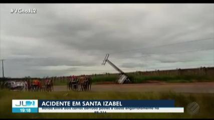 Acidente em Santa Izabel deixa uma pessoa ferida