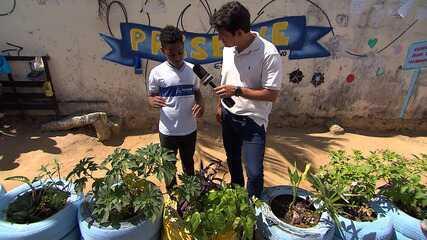 Timbó confere ação que reuniu alunos de escola pública em prol do meio ambiente