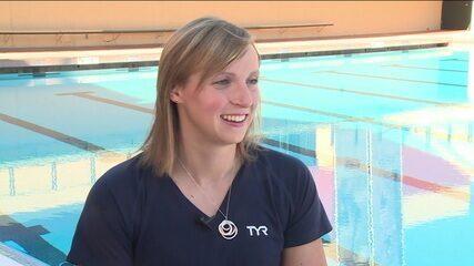 Kate Ledecky se prepara para bater mais recordes nos Jogos Olímpicos de Tóquio