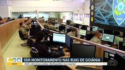 Mais de 260 câmeras de monitoramento estão desligadas em Goiânia