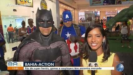 Fãs de super-heróis e games realizam encontro em shopping de Salvador