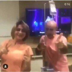 Em vídeo, Queiroz dança em hospital