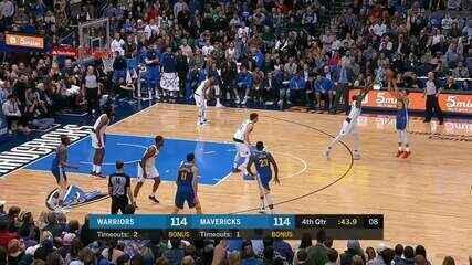 Melhores momentos: Golden State Warriors 119 x 114 Dallas Mavericks pela NBA