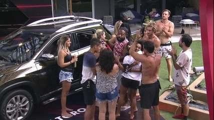 Carolina é eliminada da Prova de Resistência Cores Fiat e Paula comemora