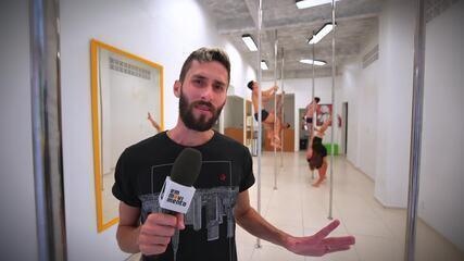 Pole dance no Em Movimento!