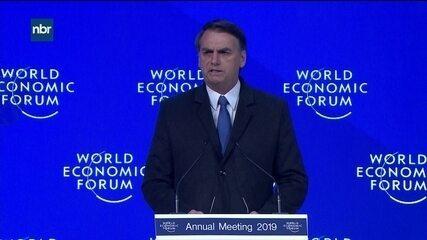 Assista à integra do discurso de Bolsonaro no Fórum Econômico Mundial