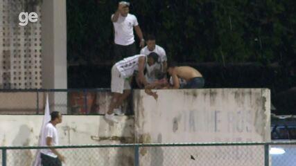 Duelo da Copa do Nordeste tem briga envolvendo torcida nas arquibancadas