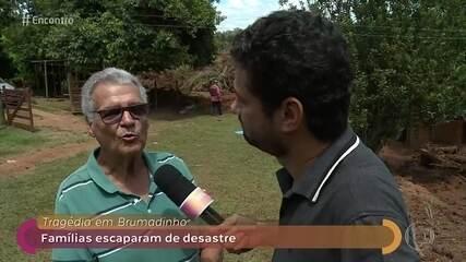 André Curvello conversa com pessoas que escaparam da tragédia em Brumadinho