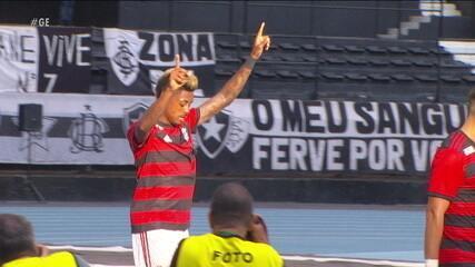 Bruno Henrique estreia com moral e marca duas vezes no clássico contra o Botafogo