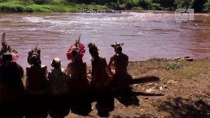 Aldeia Nao Xohã fica às margens do rio Paraopeba.