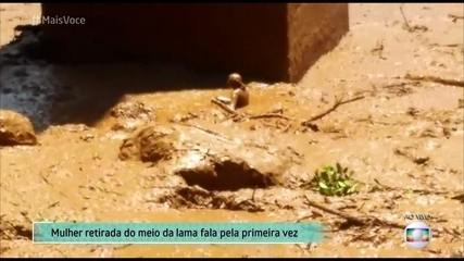 Paloma foi resgatada da lama, mas ainda procura marido, irmã e filho
