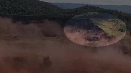 Imagem mostra rompimento da barragem em Brumadinho pelo alto