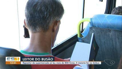Repositor de supermercado lê mais de 800 livros dentro de ônibus no ES