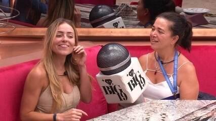 Tereza e Rodrigo cumprem Castigo do Monstro e entrevistam Paula e Hariany
