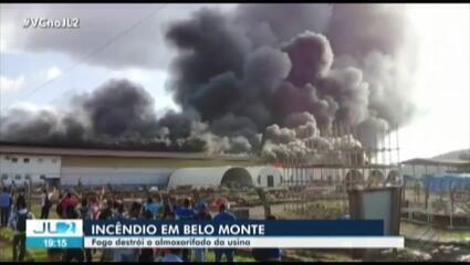 Incêndio atinge área da usina de Belo Monte, em Vitória do Xingu, no Pará
