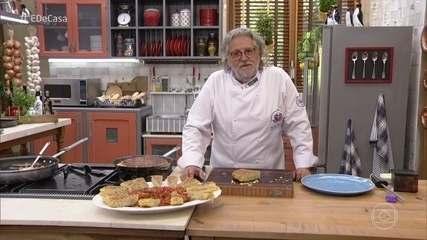 Tirinhas de Carne à Milanesa do 'É de Casa'