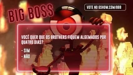 Big Boss: Você quer que os brothers fiquem algemados em dois grupos, por quatro dias?
