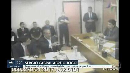Sérgio Cabral diz que havia desleixo com contabilidade das propinas
