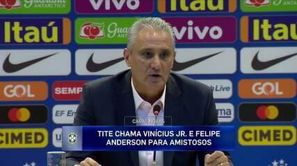 """Tite fala sobre a convocação de Vinicius Junior: """"Eu quero poder proporcionar esse crescimento"""""""