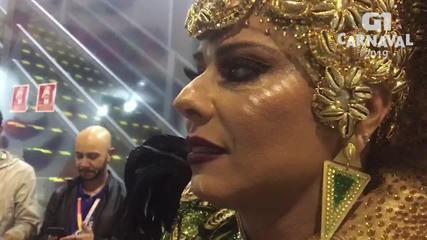 Viviane Araújo faz avaliação de desfile da Mancha Verde: 'Confiante'