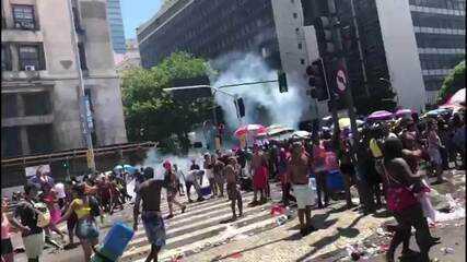 Confusão encerra fervo da Lud. no Centro do Rio