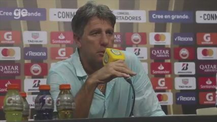 Renato Gaúcho fala após empate do Grêmio contra o Rosario, pela Libertadores, na Argentina