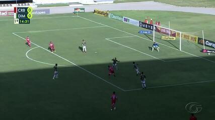 Os gols do CRB na vitória por 3 a 0 contra o Dimensão Capela, pelo Alagoano
