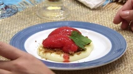 Sobremesa encerra o jantar de Alexandre em alto estilo
