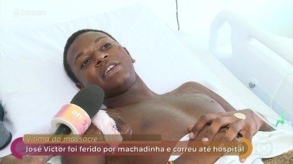 José Victor é um dos sobreviventes ao massacre em Suzano