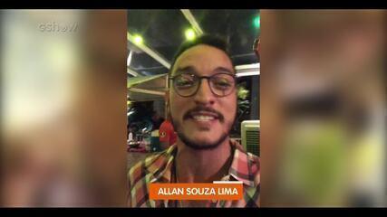 Allan Souza Lima experimenta culinária árabe na coletiva de 'Órfãos da Terra'