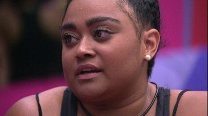 Rízia diz a Rodrigo que entrou em contradição: 'Disse que não escolheria você'