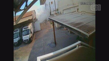 Vídeo mostra explosão em clube de tiros em Ribeirão Preto, SP