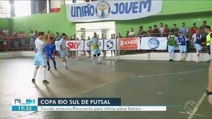 Torcida empurra Paracambi para vitória sobre Itatiaia pela Copa Rio Sul de Futsal