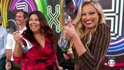 Fabiana Karla e Ellen Rocche são as campeãs do 'Super Ding Dong'