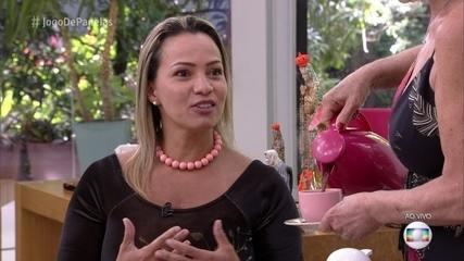 Ana Maria Braga recebe Liliane na Casa de Cristal
