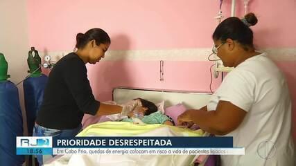 Em Cabo Frio, quedas de energia colocam em risco a vida de pacientes ligados a aparelhos