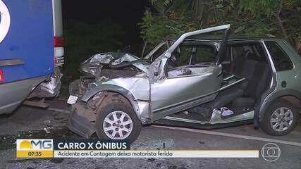 Acidente deixa motorista ferido em Contagem, na Grande BH