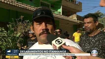 Morador relata que ouviu estalos antes de desabamento na Muzema, zona oeste do Rio