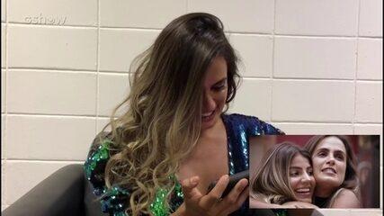Carol Peixinho assiste vídeo de sua trajetória no BBB19
