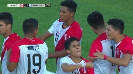 Os gols de Peru 3 x 2 Uruguai pelo hexagonal final do Sul-Americano sub-17