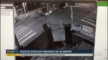 Polícia divulga imagens de acidente no Batel, em Curitiba