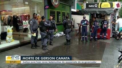 Justiça ouve testemunhas do assassinato do ex-governador Gerson Camata, no ES