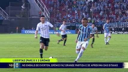 No embalo de Everton, Grêmio faz grande partida e se aproxima das oitavas