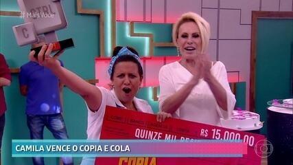 Camila é a campeã do 'Copia e Cola'