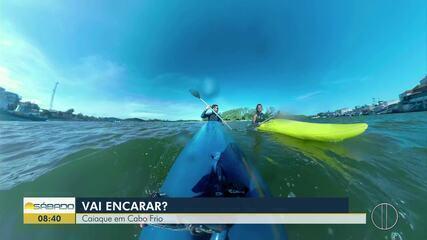 'Vai Encarar?' mostra desafio de caiaque nas águas de Cabo Frio